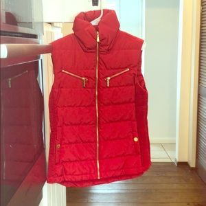 Michael Kors Red Puffy Vest